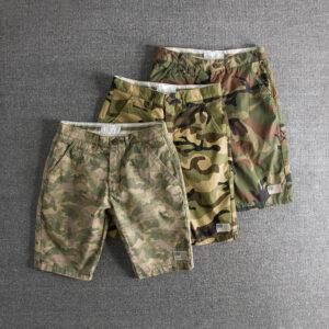 2019 summer new wash to do old camouflage pants foreign trade original single men's casual shorts