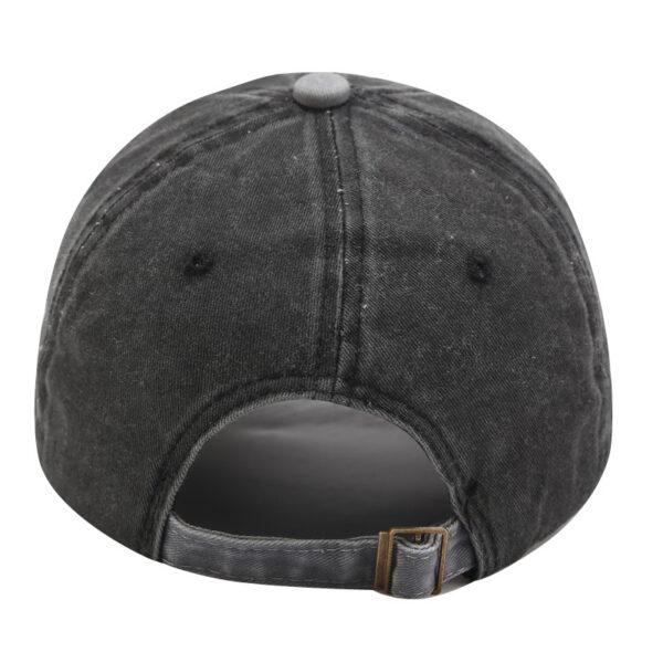Cross-border new European and American letter wash baseball hat male retro cowboy cap young students sun hat girl