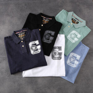Summer new American retro British foreign trade men turn collar short-sleeved T-shirt youth casual POLO shirt PK502