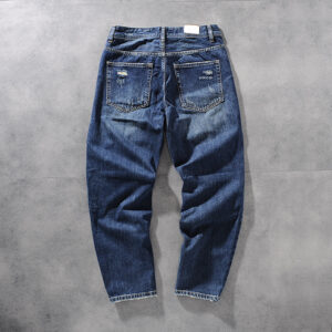 Autumn and winter new Products American foreign trade original single-texture woven water wash white men's jeans youth trousers 702