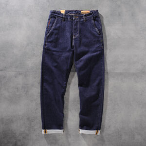 D. STRANIK autumn/winter American heavy texture blue dyed men's jeans young men's trousers DS1275