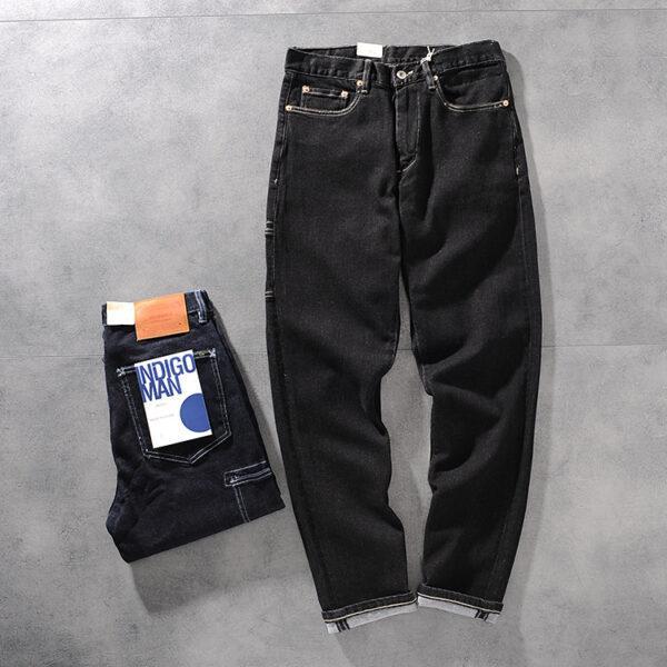 DEESMANC and CO autumn/winter new original color heavy men's jeans young men's trousers 357