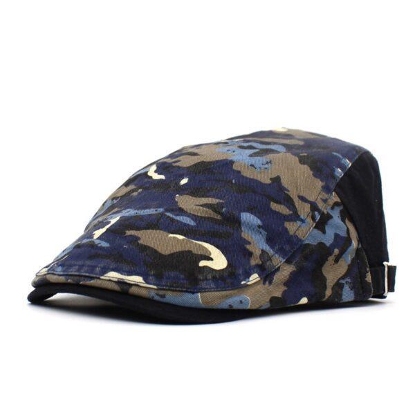 Fashion new camouflage printed beret women's cap travel cap forward hat men's hat wholesale