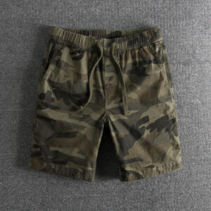 8186 wash personality camouflage tide pure cotton loose waist summer foreign trade original single men's shorts casual pants