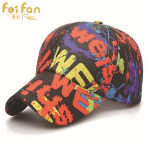 New baseball Korean cap embroidered letter men's and women's sports running color paint to do the old six-piece hat hot sales