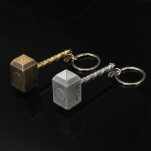 Avengers Alliance Raytheon Hammer Metal Keychain Captain America Metal Key Pendant Car Key Gift