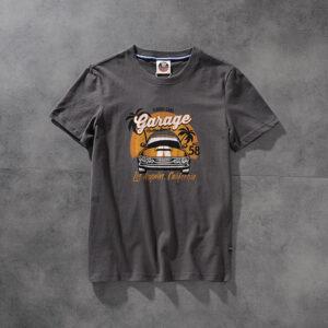 Air-rainbow American click retro do old wash men's round-neck short-sleeved T-shirt youth half-sleeve AR836