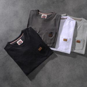 Air-rainbow American retro minimalist chest bag men's round-neck short-sleeved T-shirt youth half-sleeve AR809