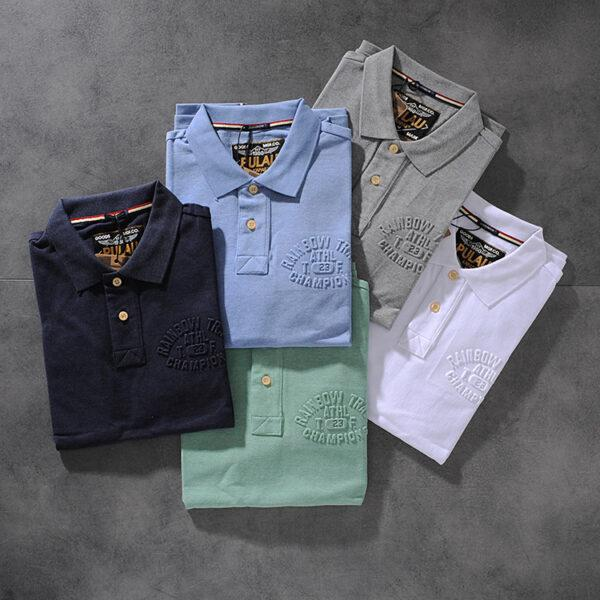 Spring and summer new American simple letter fractic men's collar short-sleeved POLO shirt youth half-sleeve PK510