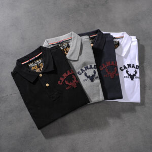 Spring and summer new American simple letter sticker men's turn collar short-sleeved T-shirt POLO shirt half-sleeve PK511