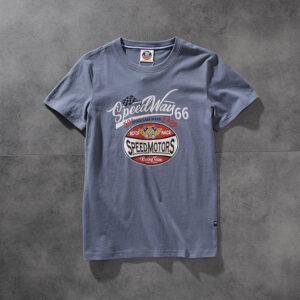 Air-rainbow American click water wash hair print men's round-neck short-sleeved T-shirt youth half-sleeve AR840
