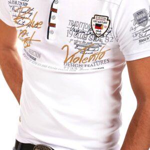 Foreign trade men's casual personality short-sleeved T-shirt summer men's print t-shirt V collar slim short-sleeve polo