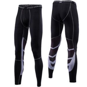 Fitness trousers men's running basketball print tight nine-point pants men sweat high bullet speed dry spot wholesale