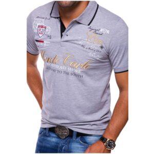Cross-border men's summer short-sleeve polo shirt men's lapel printed T-shirt youth casual business men's polo shirt