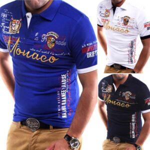 Men's spring/summer new short-sleeved t-shirt foreign trade source men's top t-shirt letter printed V-neck short sleeves