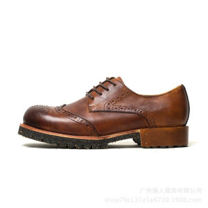 Martin Boots Men's Low Gang Vintage British Wind Bullock Carved Hollow Leather Shoes Leather Casual Tide
