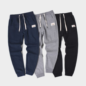 Plus velvet casual pants men's autumn/winter 100-pair solid-colored wei pants tied japanese loose thickened sports casual long pants