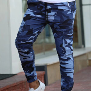 Crazy muscle camouflage trousers men's sports casual pants small feet fast dry fitness pants bunch running sweatpants men