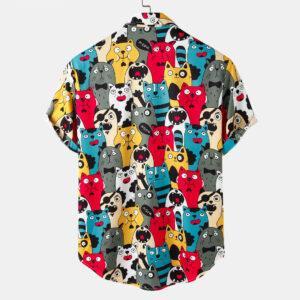 Spring/Summer new lapel button plus pocket-crushed short-sleeved men's shirt