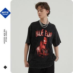 ARTIE men's wear | new street retro short-sleeved t-shirt Europe and the United States cross-border tide brand print loose t-shirt men