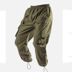 Men's multi-pocket work pants Autumn and winter men's sports pants tide brand outdoor fitness pants