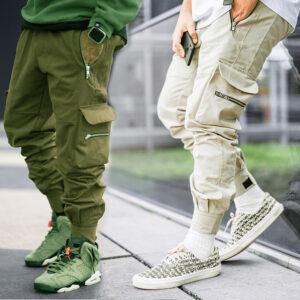 Workwear pants foreign trade tide brand men's autumn outdoor casual pants loose large-sized bundles small feet ins long pants