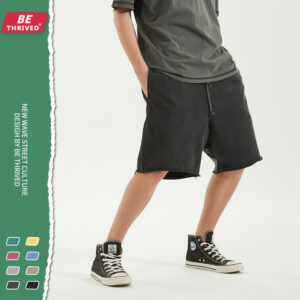 BE men's wear | summer new loose-edged suzu-ring casual pants European and American suit high street tide brand shorts men