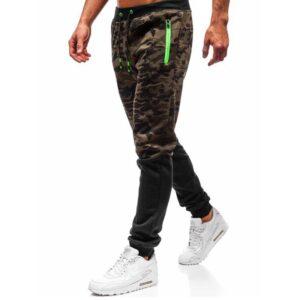 new training men slimming casually leggings camouflage tie sports pants men