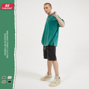 BE men's wear | summer new re-wash to do old work bag shorts European and American high street tide brand casual pants men