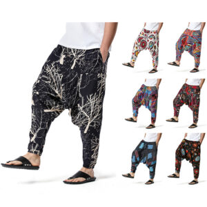 men's and women's foreign trade Harun yoga pants loose bohemian pants hanging pants moth pants
